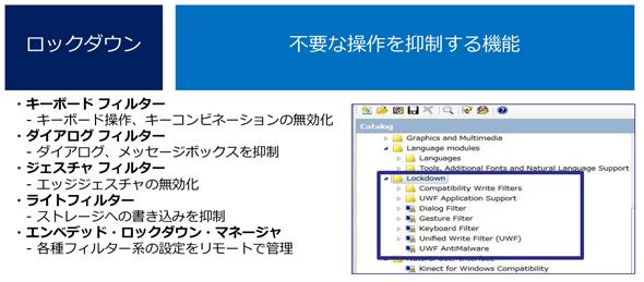 Windows Embedded 8 Standardのロックダウン機能