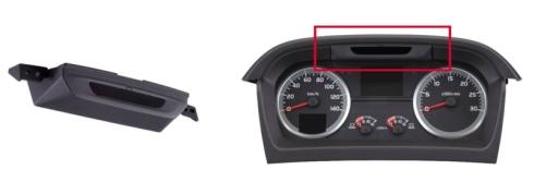 「ドライバーステータスモニター」(左)とその設置位置