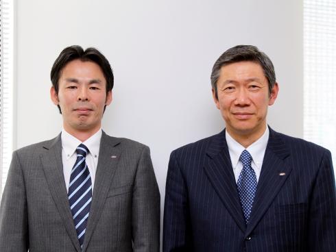 北川氏(右)と天本氏(左)