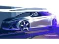 中国市場向け新型車のコンセプトモデルのデザインスケッチ