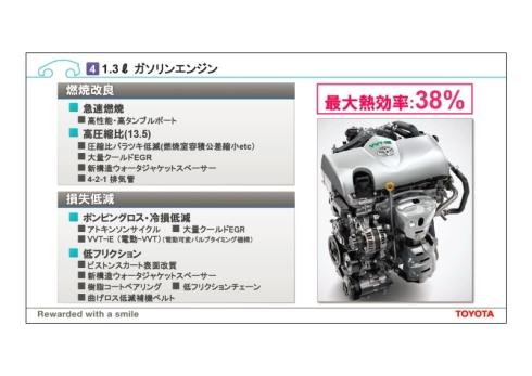 新開発の排気量1.3lのガソリンエンジンの概要