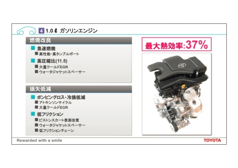 新開発の排気量1.0lのガソリンエンジンの概要