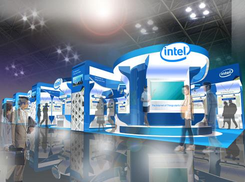 インテルのブース