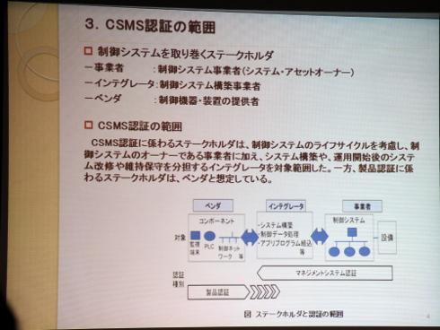 CSMS認証の範囲