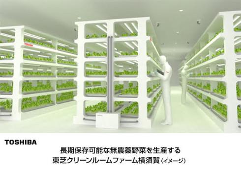 東芝の植物工場のイメージ図