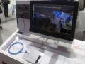 伝送速度1Gbpsに対応する車載用光通信コネクタを用いた映像伝送のデモ