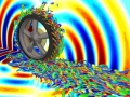 流体音響シミュレーション技術で捉えた回転するタイヤ周りの空気の渦流れ構造と音響波