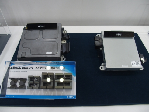 TDKの車載向け降圧用DC-DCコンバータとフェライトコア材「PCH95」