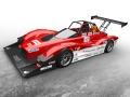 三菱自動車のパイクスピーク2014年大会参戦車両となる「MiEV Evolution III」の外観