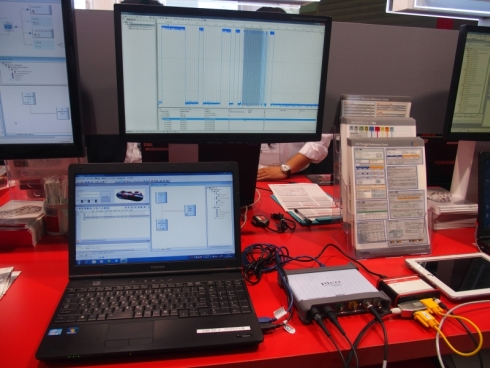 ベクター・ジャパンのCAN FD対応ツールと周辺ハードウェアを用いたデモンストレーション