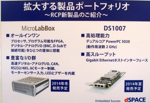 「MicroLabBox」と「DS1007」の説明パネル
