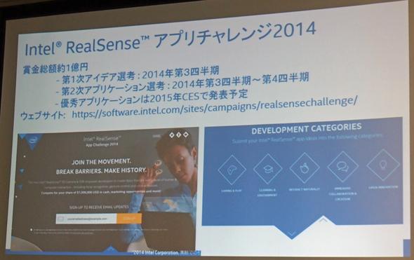 Intel RealSenseアプリチャレンジ2014