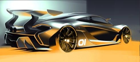 「McLaren P1 GTR」のデザインスケッチ