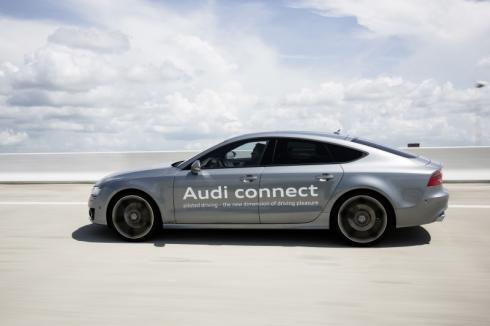 フロリダ州の公道実験に用いている「A7 Sportback」ベースの自動運転車