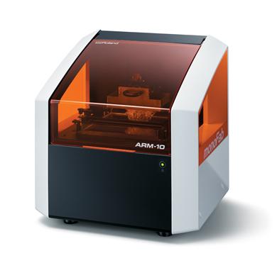 光造形方式の小型3Dプリンタ「ARM-10」