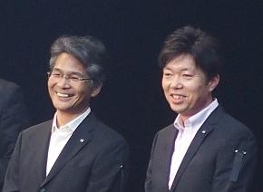 マツダ ロードスター主査の山本修弘氏(左)とチーフデザイナーの中山雅氏