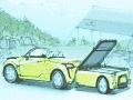 新型「コペン」と新潟県三条市がタッグ、CFRP製外板パーツを開発へ