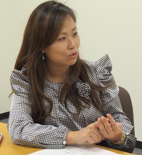 XYZプリンティングジャパンのマーケティング マネージャーを務めるSherry Liang氏