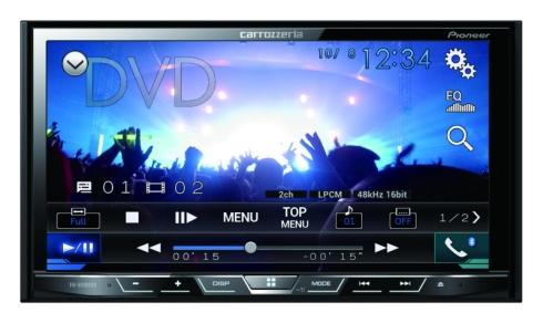 「FH-9100DVD」の画面イメージ
