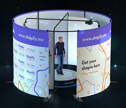 高速3Dフルボディースキャナ「Artec Shapify Booth(アーテック・シェイピファイ・ブース)」