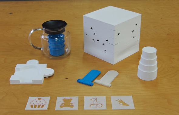 3Dプリンタで出力した試作の数々