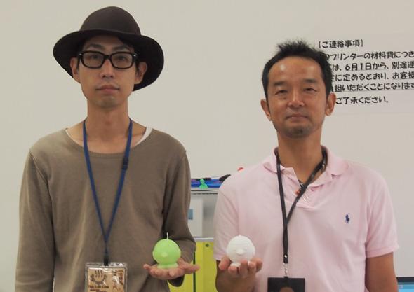 Fablab Oitaのスタッフである豊住大輔さん(左)と中内美晶さん(右)