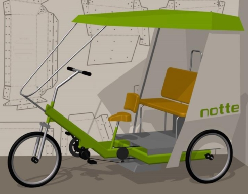 自転車タクシー「notte」