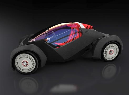 3Dプリント技術による世界初のコンセプト車両「Strati」