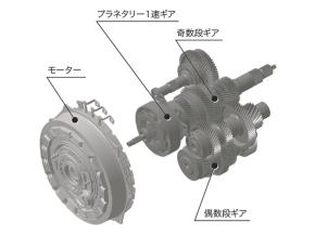 「SH-AWD」のモーター内蔵7速DCTの構造
