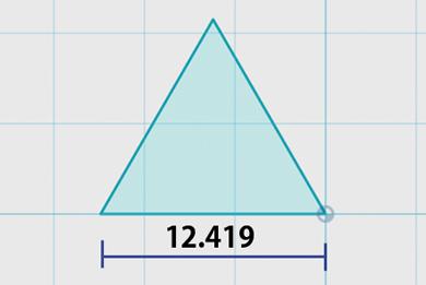 正三角形を描く