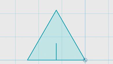 三角形の高さの3分の1の線を描く