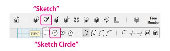 [Sketch]メニューの[Sketch Circle]コマンド