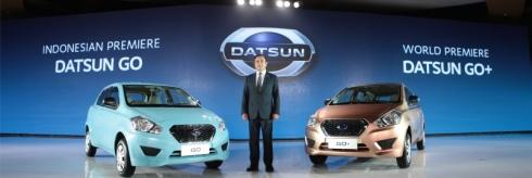 ダットサンブランドが「インドネシア国際モーターショー2013」で発表した「GO」(左)と「GO+」