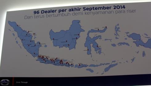 インドネシアにおけるダットサンブランドの販売店網