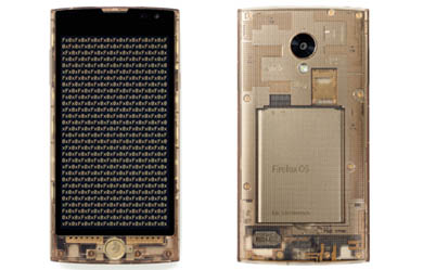Firefox OSを搭載する国内初のスマートフォン「Fx0」(LGL25:LGエレクトロニクス製)の製品イメージ
