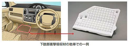 「ピオセラン」を使った下肢部衝撃吸収材の採用例