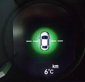 燃費運転支援の表示例