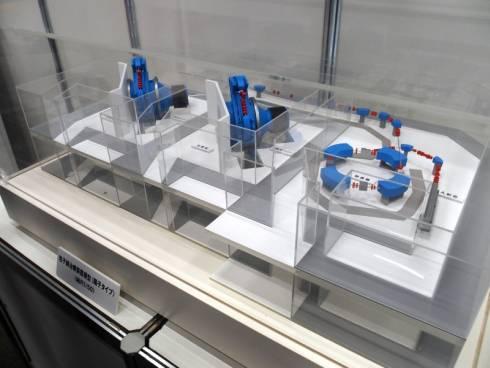 粒子線治療装置(陽子タイプ)の50分の1模型