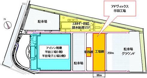 アドヴィックス新工場の位置