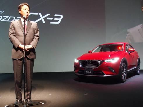 「CX-3」とマツダの小飼雅道氏