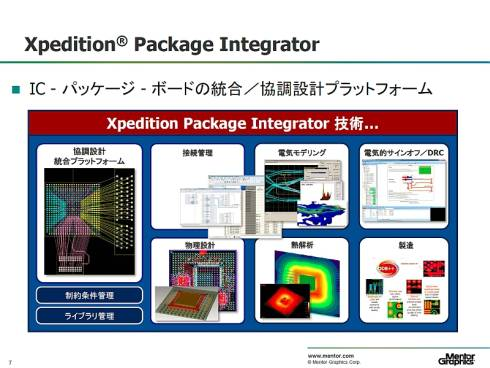 「Xpedition Package Integrator」のツール構成