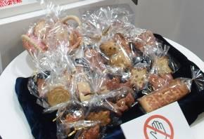 フードプリンタで作ったクッキーの数々