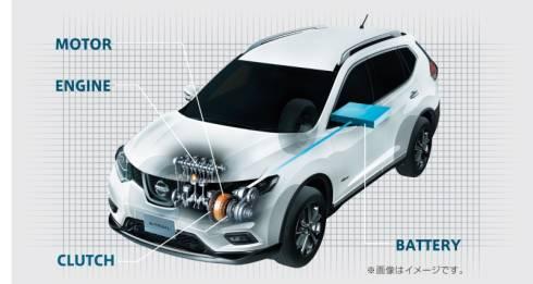 「エクストレイル ハイブリッド」のFF車向けハイブリッドシステムの構成