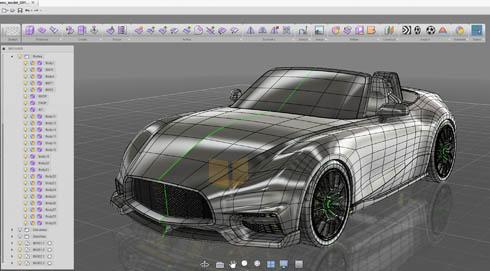 自動車デザイン向けコンセプトモデラー「Alias SpeedForm」