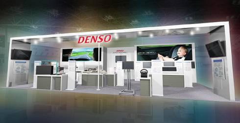 デンソーの「人とくるまのテクノロジー展2015」のブースイメージ