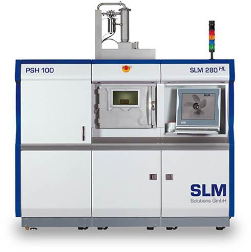 SLMソリューションズの金属パウダー積層造形システム「SLM280」