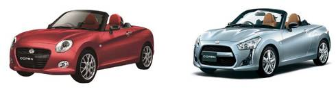 「コペン」の「第3のモデル」(左)と「コペン ローブ」(右)