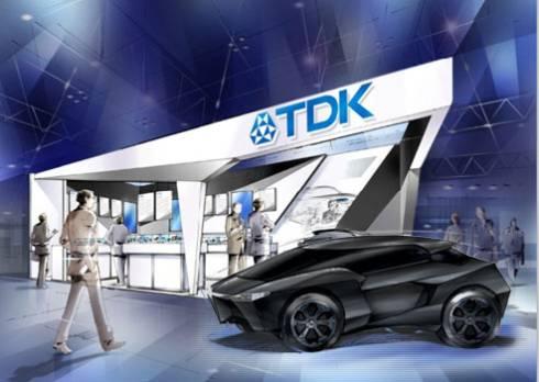 TDKの「人とくるまのテクノロジー展2015」のブースイメージ