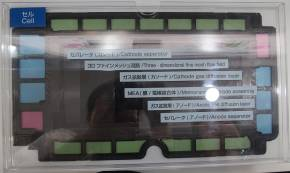 燃料電池セルのカットモデル
