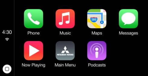 「CarPlay」の画面